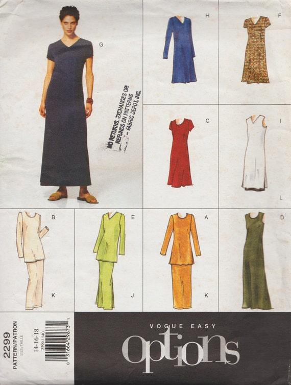 Moda fácil opciones 2299 / fuera del patrón de costura impresa | Etsy