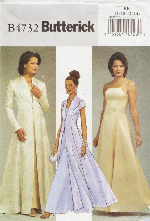 Butterick 4732 / Nähen Muster / Abend Kleid und Mantel / | Etsy