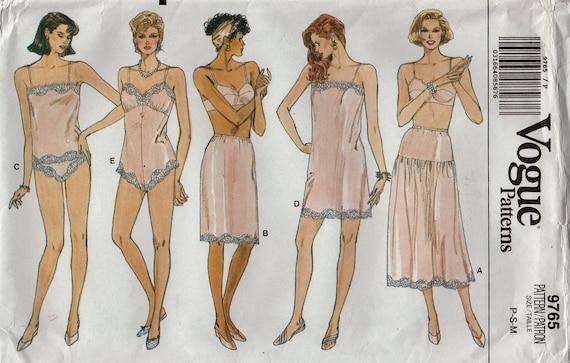Vogue 60 Vintage Lingerie Sewing Pattern Slip Camisole Etsy Amazing Lingerie Patterns