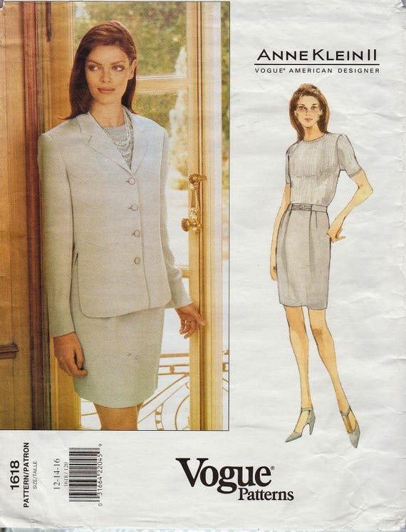 Vogue 1618 / Vintage Designer Sewing Pattern By Anne Klein / | Etsy