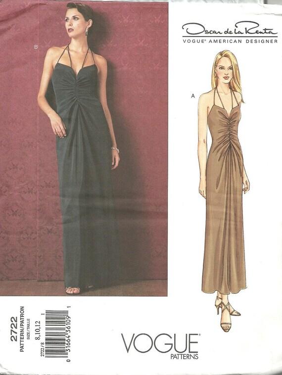 Vogue 2722 / Designer Sewing Pattern By Oscar de la Renta / | Etsy