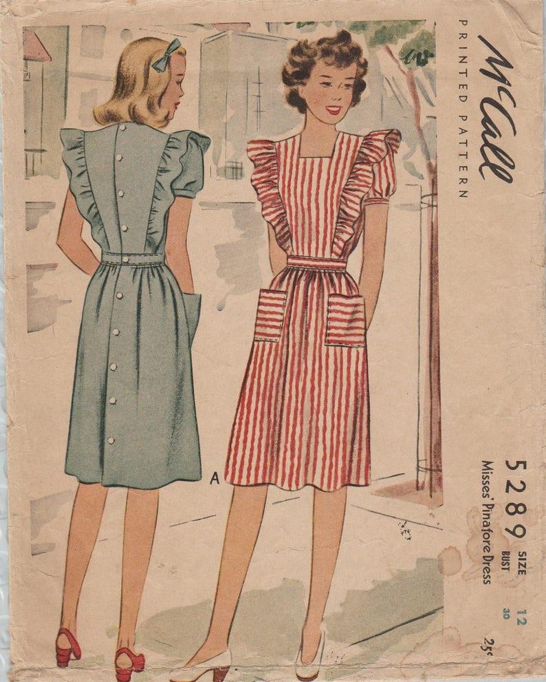 Patron McCall 5289 / Vintage des années 40 / jour robe tablier | Etsy