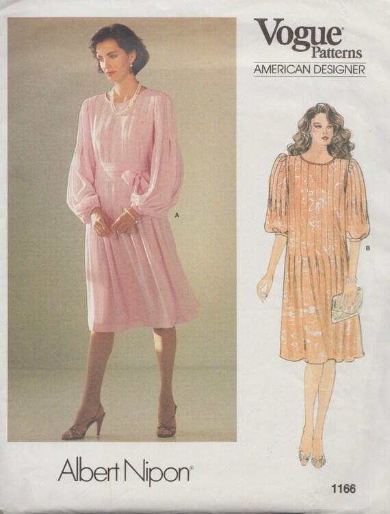 Vogue 1166 / Vintage Designer Sewing Pattern By Albert Nipon / | Etsy