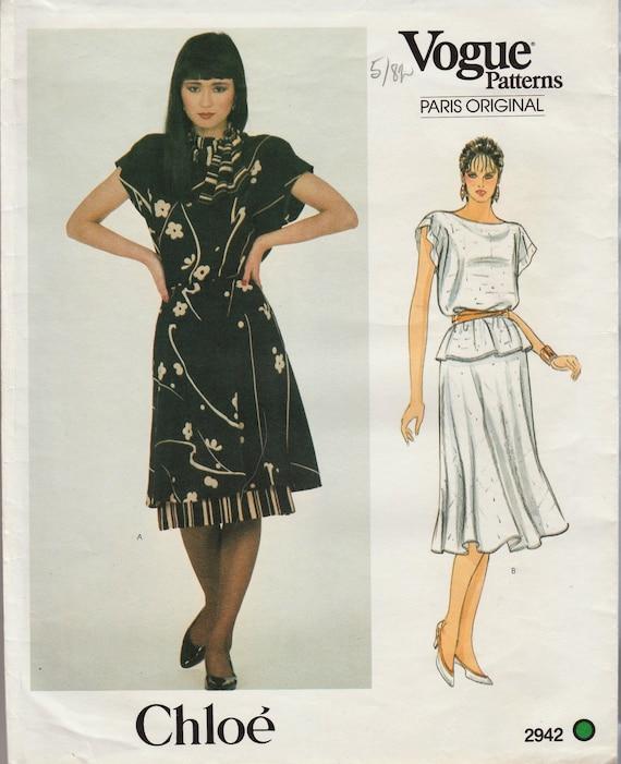 Vintage Designer Sewing Pattern By Chloe / Vogue Paris   Etsy