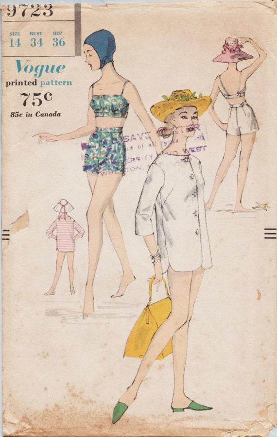 Mode 9723 / Vintage 50er Jahre Schnittmuster / Baden Anzug / | Etsy