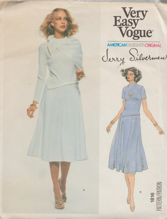 Very Easy Vogue 1816 / Vintage Designer Sewing Pattern By | Etsy