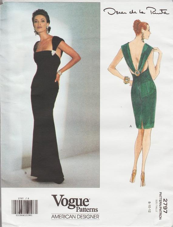 Vogue 2797 / Vintage Designer Sewing Pattern By Oscar de la | Etsy