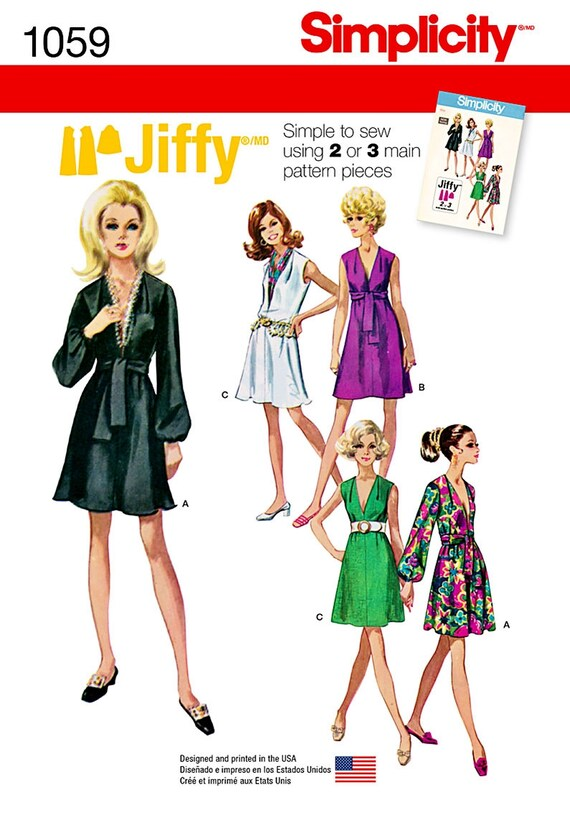 Deep V Dress Pattern Jiffy Sew Dress Pattern Easy Tunic