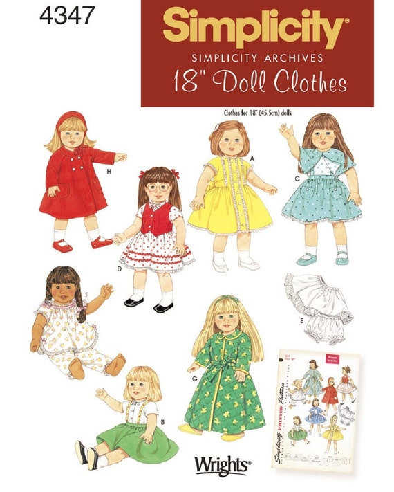 18 inch Doll Clothes Pattern, Vintage 50\'s Doll Clothes Pattern ...