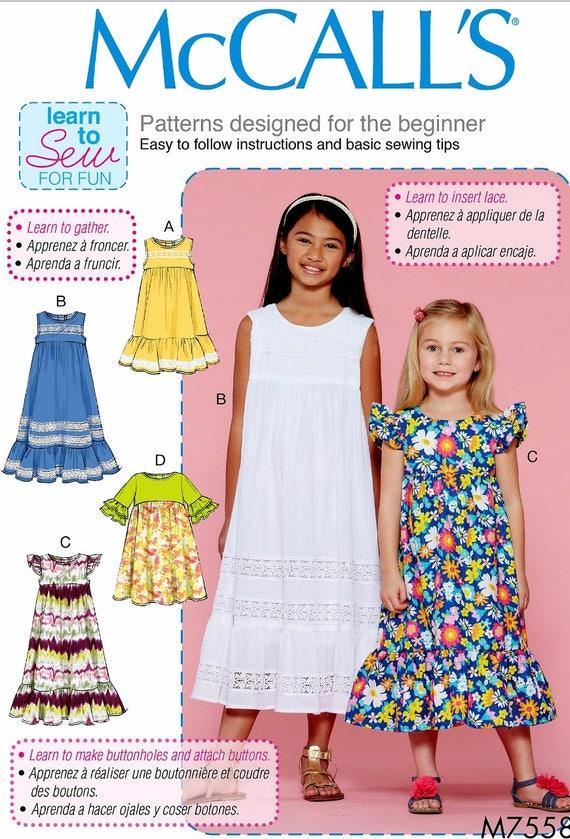 Sewing Pattern Girls\' Learn to Sew Dress Pattern Tween