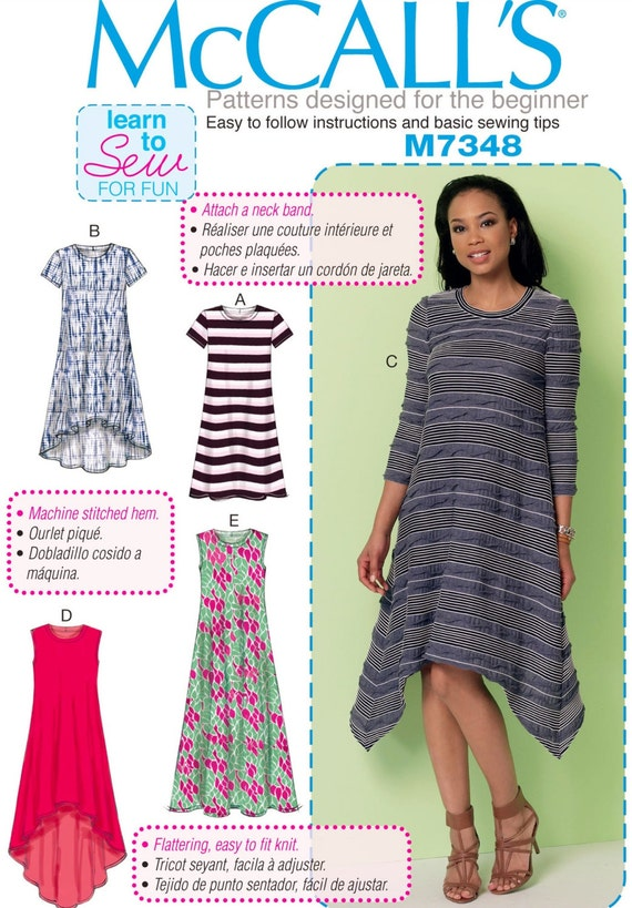 Learn to Sew a Dress Pattern Easy Pullover Dress Pattern