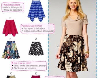 A Learn to Sew Skirt Pattern, Easy Skirt Pattern, McCall's Sewing Pattern 6994