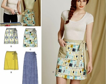 Sewing Pattern Learn to Sew Wrap Skirt Pattern, Beginner Sewing Wrap Skirt Pattern, Sz 6 to 18, Simplicity Sewing Pattern 8133