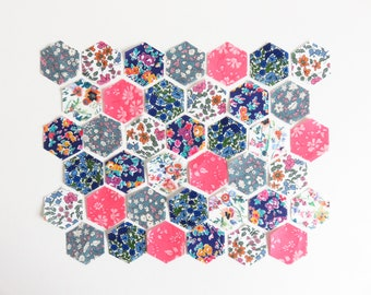 175 FLEXIBLE PLASTIC QUILTING HEXAGON TEMPLATES REUSABLE FOREVER 3//4 INCH SIDES