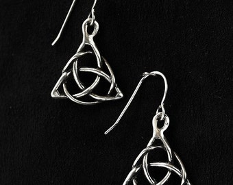 Trinity Knot/Triquetra Knot Sterling Silver Earrings