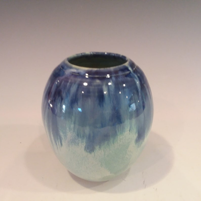 Wedding Pottery Vase Mother/'s day Mothers Day Blue and Green Christmas Easter Gift Vase Ceramic Handmade Housewarming Gift