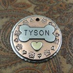 pitter patter - dog - dog id tag – personalized dog tag – dog tag for dogs – pet id tags – dog tag – islandtopcustomtags – islandtopdesigns