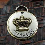 crown - dog id tag - pet tag – personalized dog tag – dog tag for dogs – pet id tags – dog tag – islandtopcustomtags – islandtopdesigns
