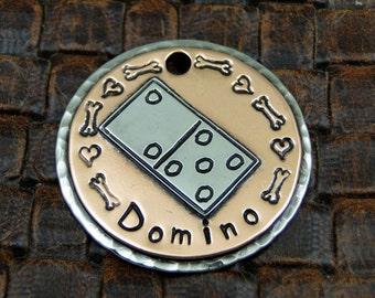 domino - dog id tag, pet tag – personalized dog tag – dog tag for dogs – pet id tags – dog tag – islandtopcustomtags – islandtopdesigns