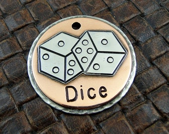 dice - dog id tag, pet tag – personalized dog tag – dog tag for dogs – pet id tags – dog tag – islandtopcustomtags – islandtopdesigns