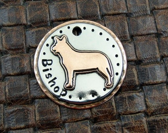 Australian cattle dog - dog id tag – personalized dog tag –  tag for dogs – pet id tags – dog tag – islandtopcustomtags – islandtopdesigns