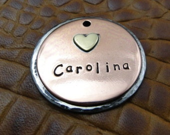 Carolina - dog id tag, pet tag – personalized dog tag – dog tag for dogs – pet id tags – dog tag – islandtopcustomtags – islandtopdesigns