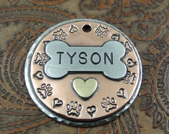 pitter patter -dog id tag - dog – personalized dog tag – dog tag for dogs – pet id tags – dog tag – islandtopcustomtags – islandtopdesigns