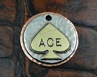 spade - dog id tag, pet tag – personalized dog tag – dog tag for dogs – pet id tags – dog tag – islandtopcustomtags – islandtopdesigns