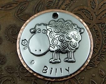 sheep - dog id tag, pet tag – personalized dog tag – dog tag for dogs – pet id tags – dog tag – islandtopcustomtags – islandtopdesigns