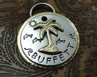 Palm Tree - beach - dog id tag – personalized dog tag – dog tag for dogs – pet id tags – dog tag – islandtopcustomtags – islandtopdesigns