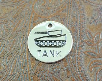 Tank - dog id tag  – personalized dog tag – dog tag for dogs – pet id tags – dog tag – islandtopcustomtags - islandtopcustomtags