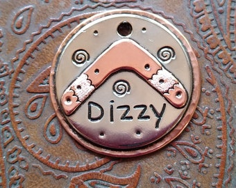 Boomerang - dog id tag, pet tag – personalized dog tag – dog tag for dogs – dog tag – islandtopcustomtags – islandtopdesigns
