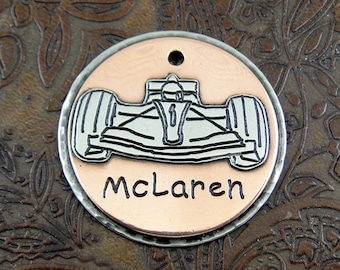 Formula One Car - dog id tag – personalized dog tag – dog tag for dogs – pet id tags – dog tag – islandtopcustomtags – islandtopdesigns