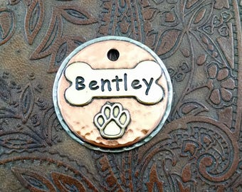 bone and paw - dog id tag – personalized dog tag – dog tag for dogs – pet id tags – dog tag – islandtopcustomtags – islandtopdesigns