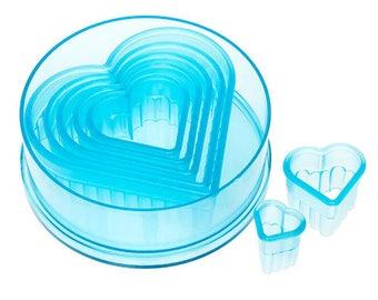 7 Piece Fluted Heart Cutter Set