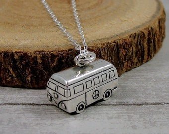 c06d4aaa60 Sterling Silver VW Bus Necklace
