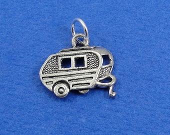 BULK 20 Camper Charms Antique Silver Tone Trailer Caravan SC4928