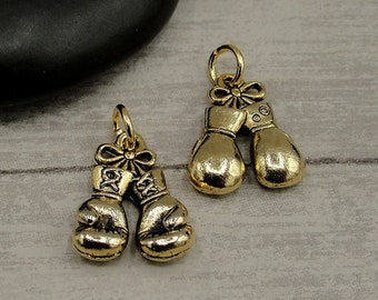 Boxing glove TINY sterling silver charm .925 x 1 Boxers Gloves charms
