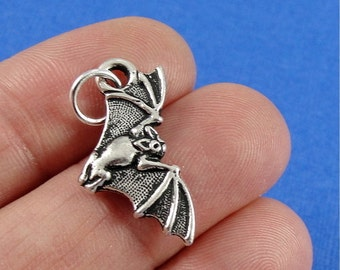 5Pcs Antiqued Silver Tone Halloween Star Witch Charms Pendants 17x23mm