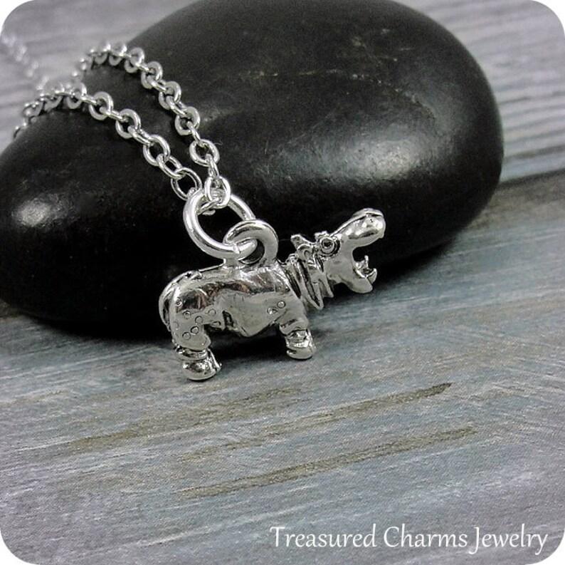 Fashion Jewellery SILVER DANGLE HIPPO HIPPOPOTAMUS EUROPEAN BEAD Charms & Charm Bracelets