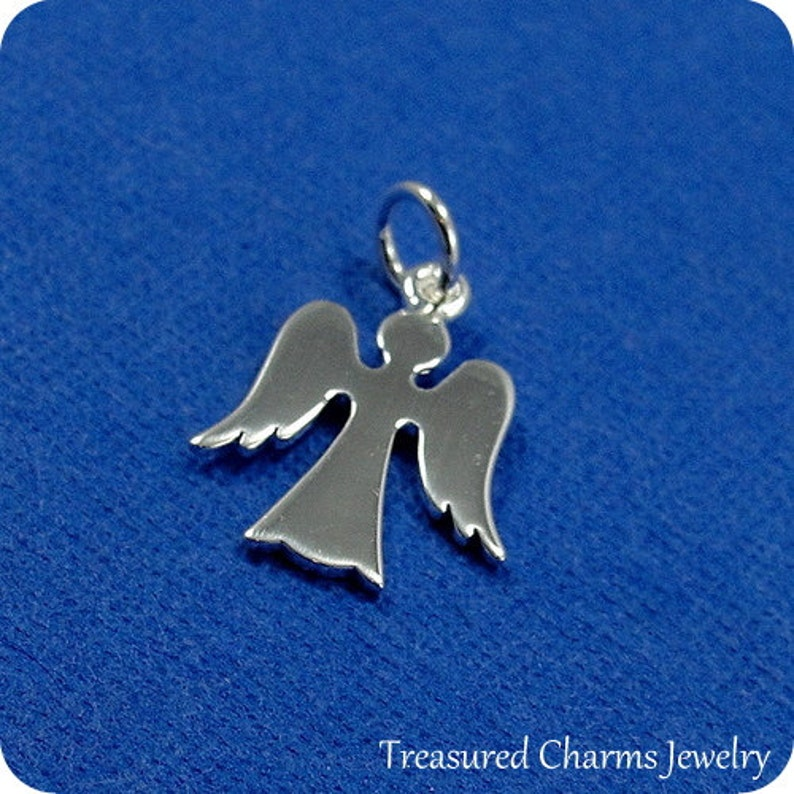 Angel Charm Sterling Silver Angel Charm Necklace or Bracelet