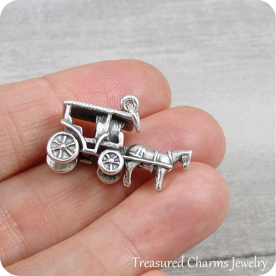 .925 Sterling Silver Solid Small Budded Cross Children/'s Charm