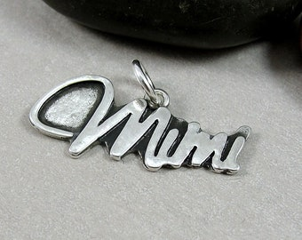Sterling Silver Mimi Charm, Mimi Pendant, Grandma Charm, Grandmother Charm, Necklace Charm, Bracelet Charm, Mimi Gift, Mother's Day Gift