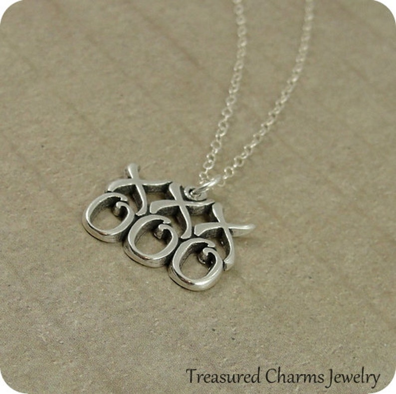 Hugs and Kisses Necklace Sterling Silver Hugs and Kisses image 0