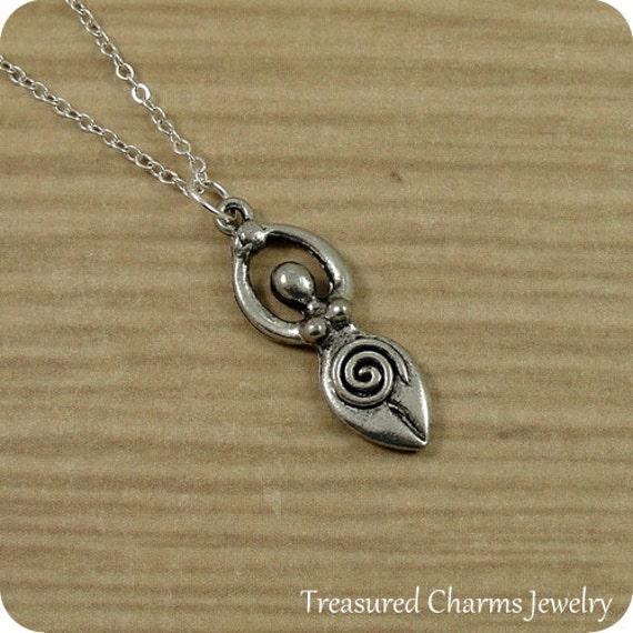 Fertility Symbol Necklace Silver Fertility Goddess Symbol Etsy