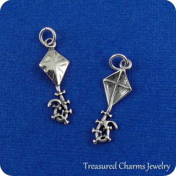 Kite Charm Sterling Silver
