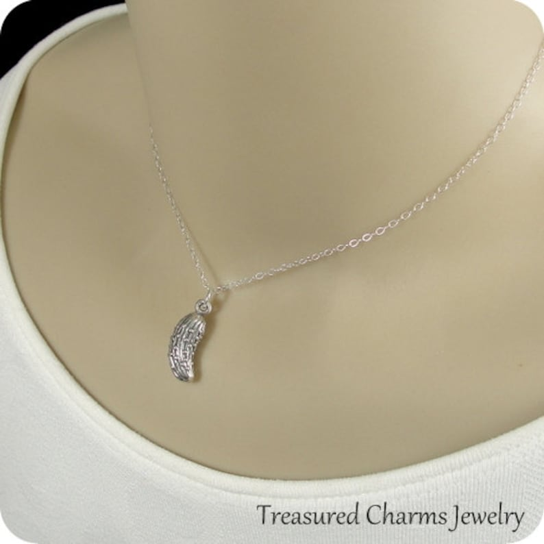 Silver Pickle Charm on a Sterling Silver Cable Chain Pickle or Cucumber Necklace
