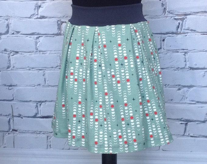 Moon Phase Pleated Skirt