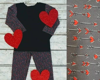 Valentine's Day Matching Pajamas - Hearts and Arrows