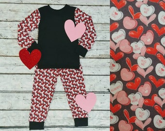 Valentine's Day Matching Pajamas- Candy Hearts